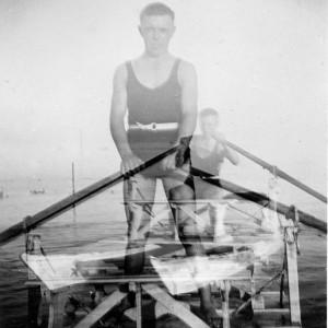 low_doppelbelichtung_mann im ruderboot
